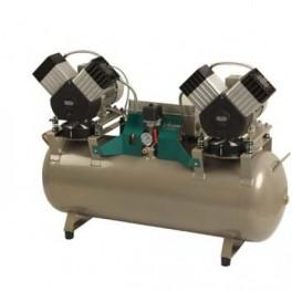 EKOM DK50 2x2V/110 Oliefri trykluft kompressor